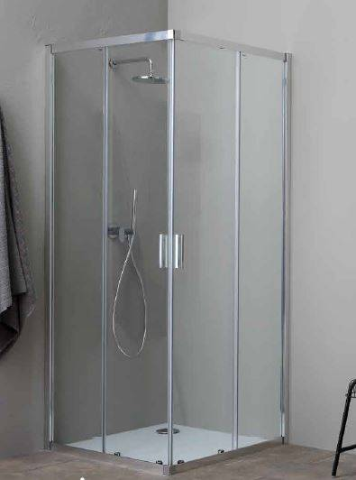 Grandform/Kinedo Boîte de douche Fast2000 80x80 ouverture à angle coulissant