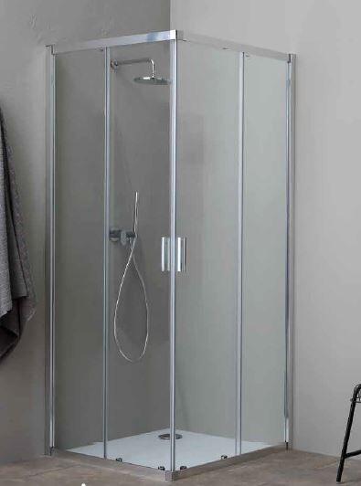 Grandform Boîte de douche Fast2000 100x80 ouverture à angle coulissant