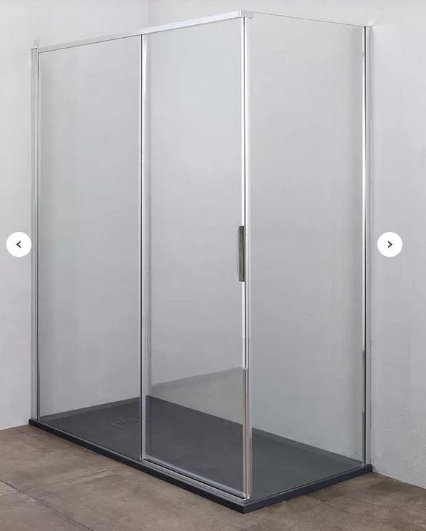 Grandform Porte coulissante pour cabine de douche GL8 140x80 - Sinistro
