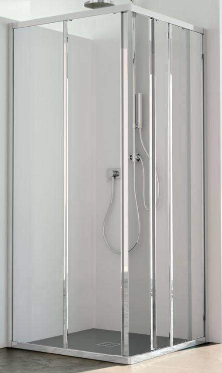 CSA Box Doccia Boîte de douche Jade A.2FS 60X65 ouverture porte coulissante - blanc - acrylique