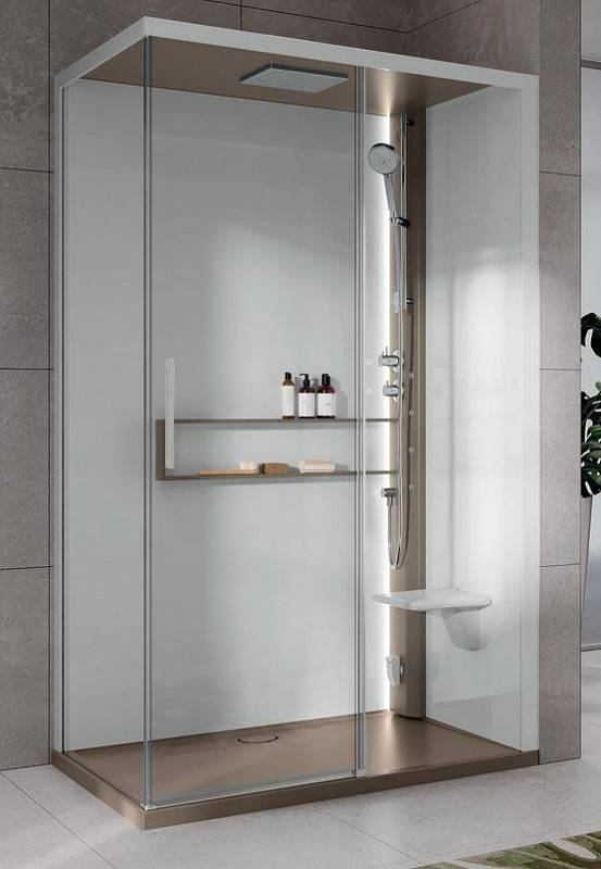 Novellini Box Idromassaggio e Sauna Glax 2 2.0 2P 120x80 - Total Blanc - thermostatique -