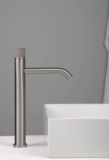 Ritmonio Mitigeur de lavabo avec diamètre d'extension 35 INOX Concrete