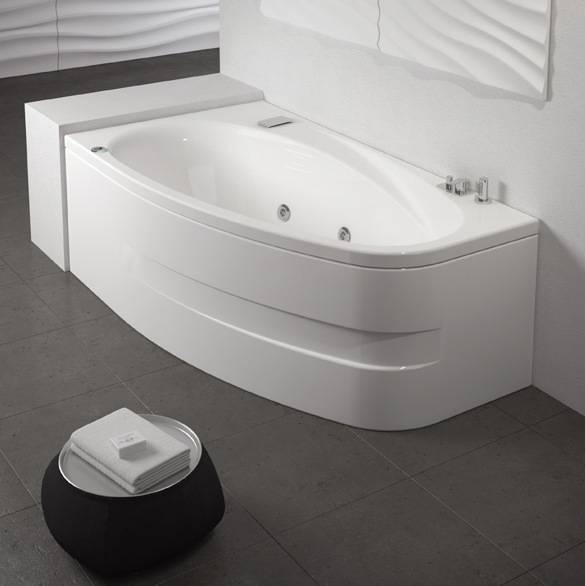 Grandform/Kinedo Bath Life hydromassage 170x90 Hydro Minimal avec cascade - SANS ROBINET - Droit