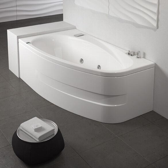 Grandform/Kinedo Bath Life hydromassage 160x90 Digital Plus avec cascade - SANS ROBINET - Droit