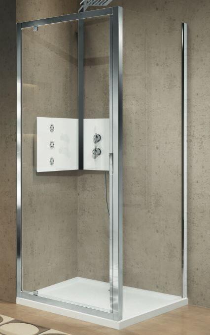 Novellini Porte de douche 1 porte Leaf Lunes 2.0 G 70 - transparent - blanc