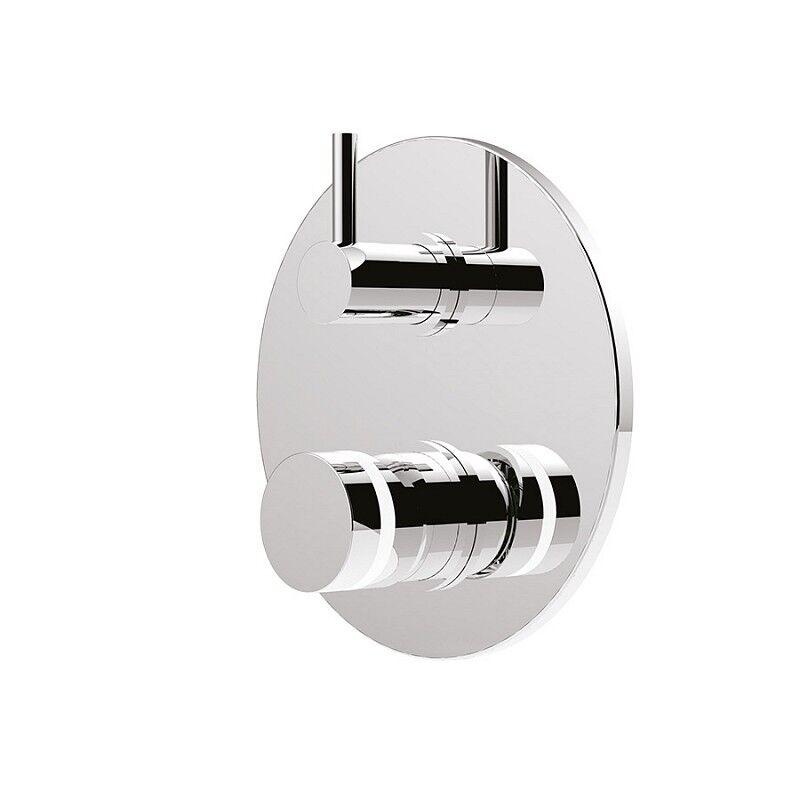 Giulini G.Rubinetteria Mitigeur de douche intégré avec déviateur My Ring - Fini du robinet: Beige Or