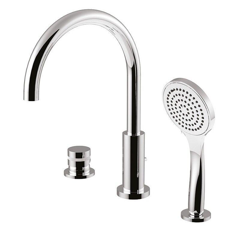 Giulini G.Rubinetteria My Ring Tub Edge Mixer - Fini du robinet: Beige Or