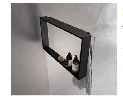 Novellini Tablette de douche à accrocher à la cabine de douche en 3 Couleur - Nero