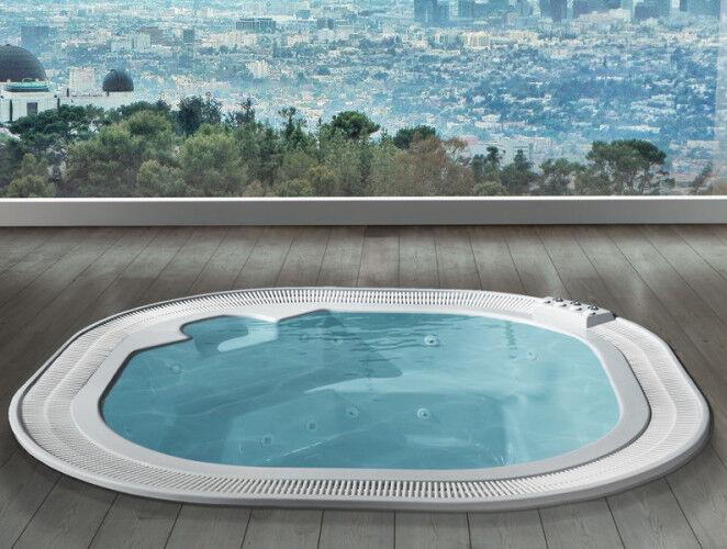 Busco 'Miami' Whirlpool Mini 304x304 - bleu - 304x304 - Avec chromothérapie - Sans air