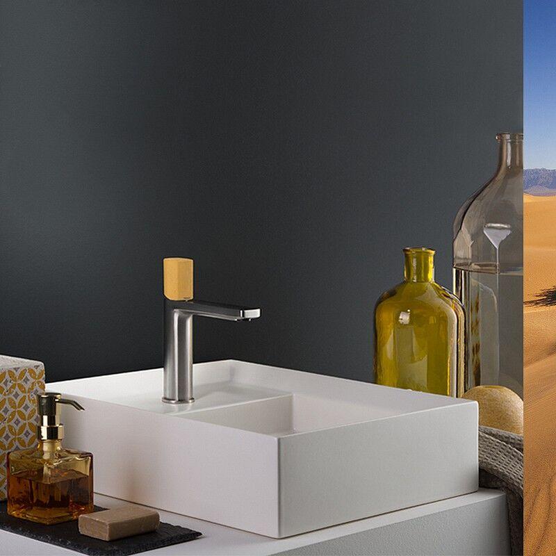 Ritmonio Mélangeur Haptic Basin avec poignée Sahara Cement - SANS PILIER - Chrome poli