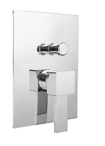 Bugnatese Mitigeur de douche intégré avec inverseur intérieur - Chrome poli
