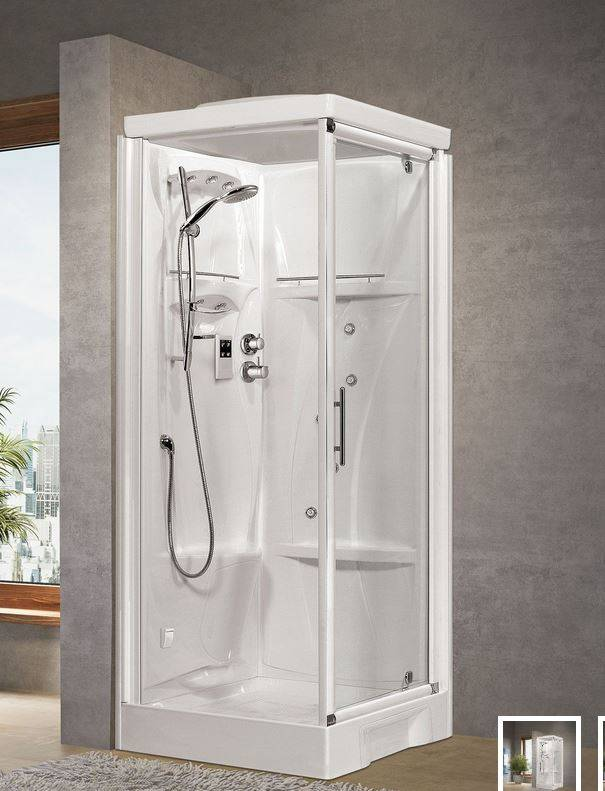 Novellini Nouvelle cabine de douche Holiday GF80 - thermostatique - blanc - Sans toit