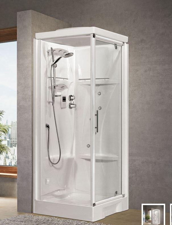 Novellini Nouvelle cabine de douche Holiday GF80 - thermostatique - blanc - Sans toit