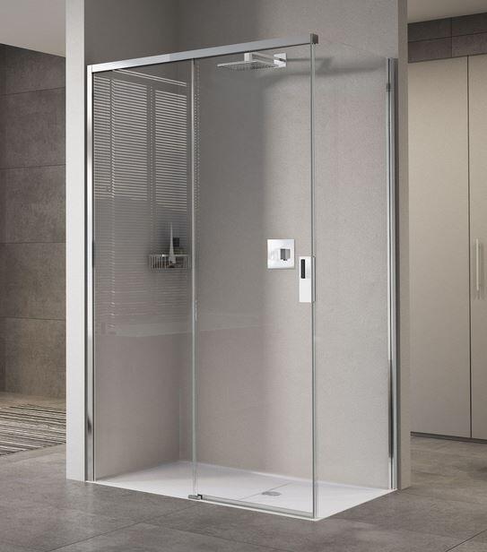 Novellini Cabine de Douche Opera 2PH + FH 110x70 Ouverture Coulissante - transparent - arg