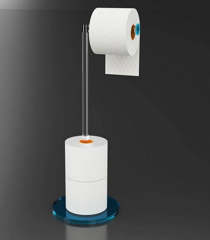 Petrozzi Porte-rouleau de papier toilette Giro en 12 couleurs - Nero