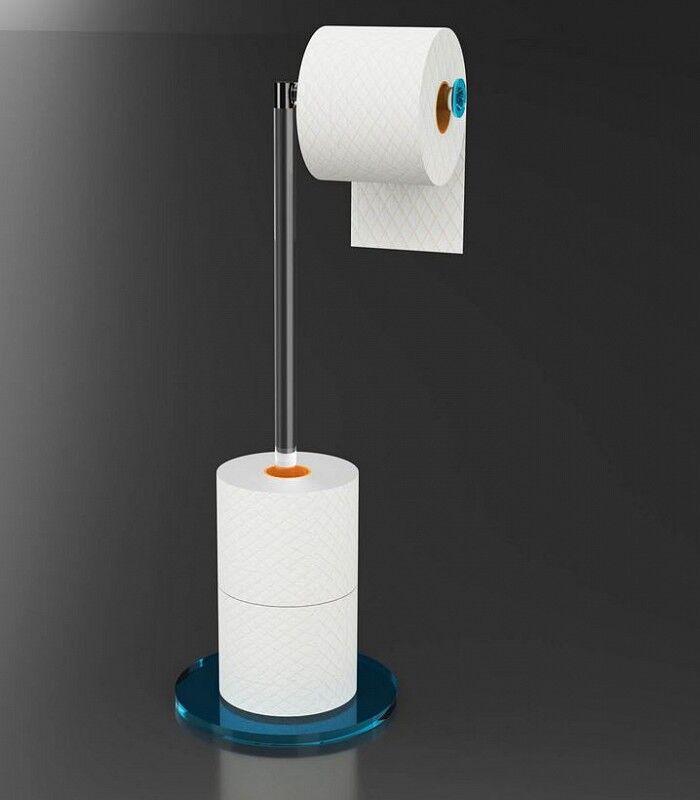 Petrozzi Porte-rouleau de papier toilette Giro en 12 couleurs - Fumè.