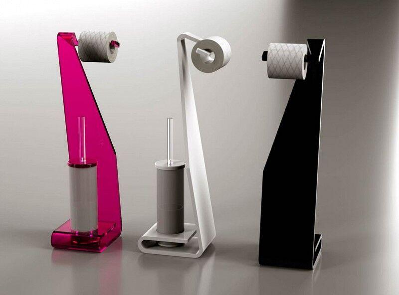 Petrozzi Porte-rouleau de papier toilette et brosse de toilette Freccia en 12 couleurs -