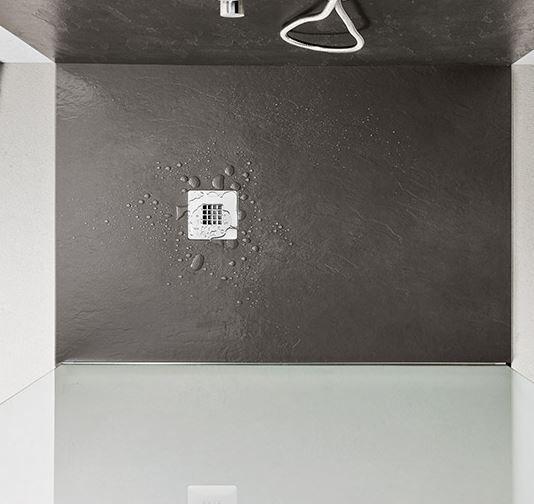 AGHA Receveurs de douche Effet Pierre Stone 160x90 en 8 couleurs - Ciment gris