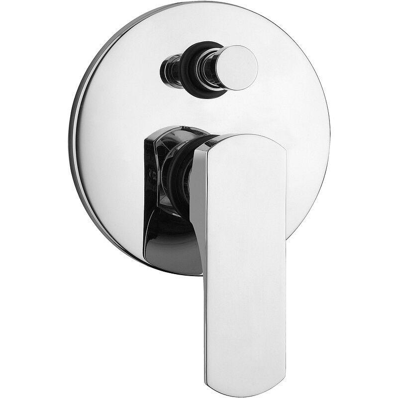 Bugnatese Mitigeur de douche intégré avec déviateur Planet - Noir mat