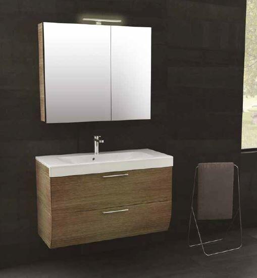 Iotti Meuble de salle de bain Smile cm 97.5 in 5 Couleurs - Nero Lucido