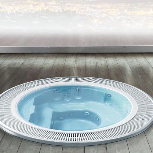 Busco SPA 240 mini-piscine hydromassage - bleu - Sans chromothérapie - Avec échangeur