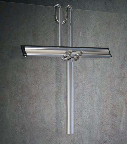 Novellini Raclette en chrome poli à suspendre à la cabine de douche