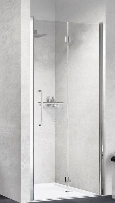 Novellini Young 1BS Boîte de douche ouverture 1 porte à soufflet 90 - Cromo - Trasparente