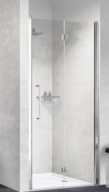 Novellini Young 1BS Boîte de douche ouverture 1 porte à soufflet 60 - Cromo - Satinato - S