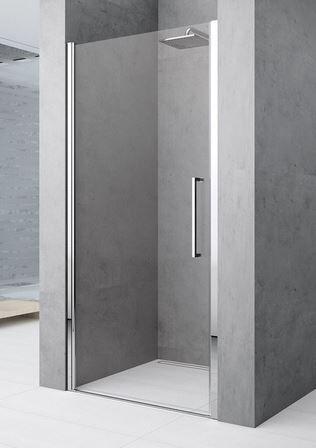 Novellini Porte de douche battante Young 2.0 1B 60 - blanc - transparent