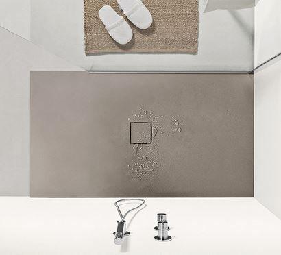 AGHA Receveur de douche Soft 160x90 en 8 couleurs - Ciment gris