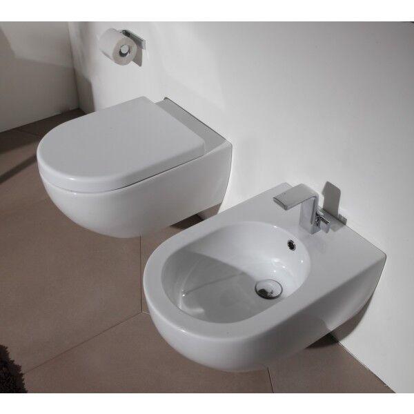 Flaminia Toilet App Go Clean suspendu - Avocat avec descente lente QKCW03