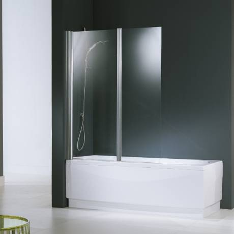 Novellini Aurora 2 Box en Cristal 120 cm - profil: blanc - mesurage: 120xH150 - verre: aqu