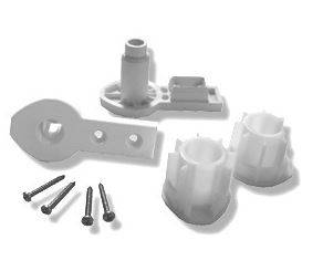 Novellini Charnières d'emballage de rechange AURORA 1-2-4-5 / BAY / DIAM.RU - argent