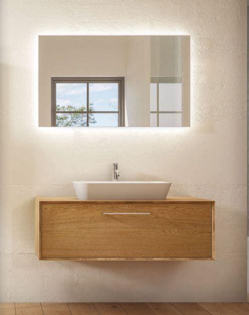 Mobilduenne Armoire de toilette cm 124 en chêne massif - Noix Canaletto