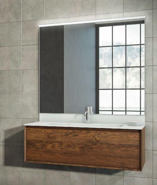 Mobilduenne Armoire de toilette 120 cm en bois massif - Noix Canaletto