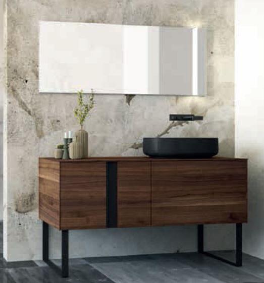 Mobilduenne Armoire de toilette 152 cm avec miroir - Noix Canaletto
