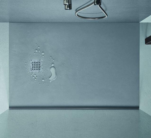AGHA Receveur de douche en béton 160x90 en 8 couleurs - Gris cendre