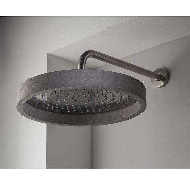 Ritmonio Pommeau de douche en acier inoxydable poli Haptic avec couvercle en ciment pour