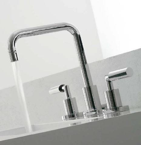 Zazzeri Robinet de lavabo 3 trous 3 pouces - Noir