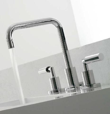 Zazzeri Robinet de lavabo 3 trous 3 pouces - blanc