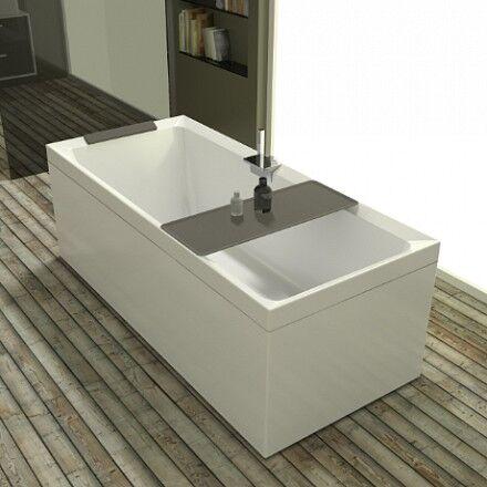Novellini Bain à remous Whirlpool Divina - 170x75 - AVEC TAPS - Blanc doux - Poudre d'argi