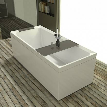Novellini Bain à remous Whirlpool Divina - 170x70 - SANS ROBINET - Blanc doux - Poudre d'a