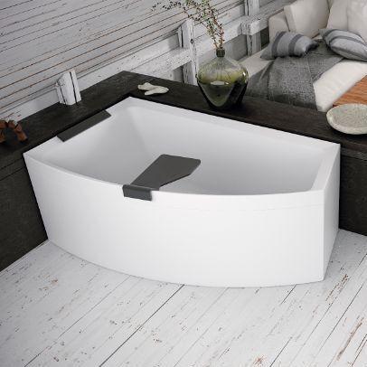 Novellini Baignoire d'Hydromassage Divina O Hydro Plus 165X98 - Blanc doux - Droit - Poudr