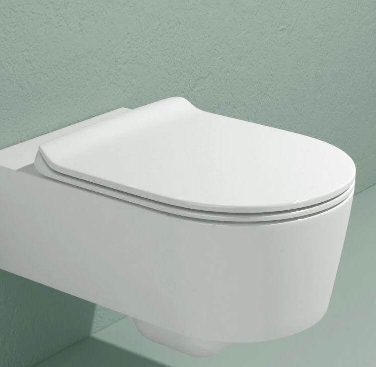 Flaminia Wc Link Go Clean Lait Blanc Suspendu - Slim caduta rallentata Latte 5051CW05
