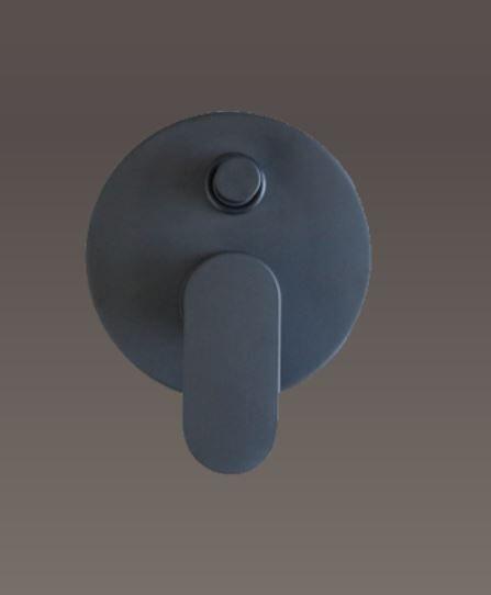 Gaboli Mitigeur de douche intégré avec mon déviateur noir