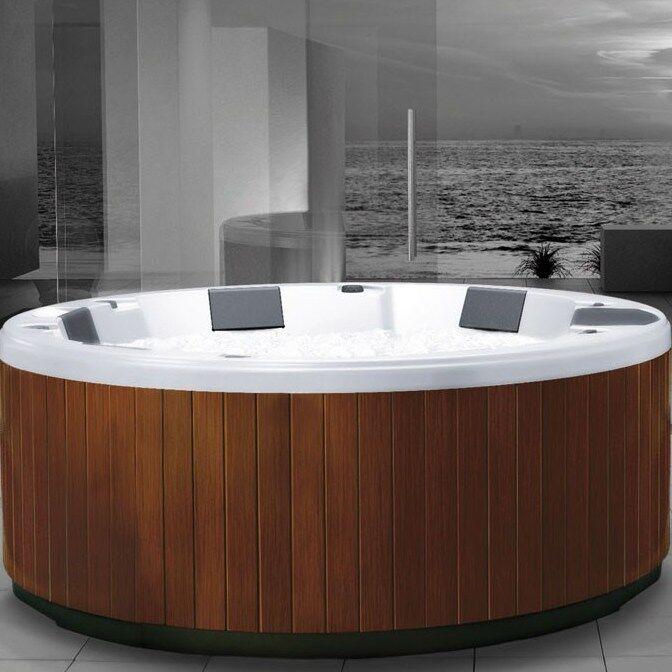 Grandform Mini-piscine extérieure R200 Diamètre 2mt Hydromassage - Couleur cerisier - Blan