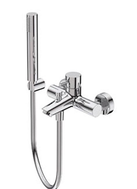 Ritmonio Mitigeur de baignoire Diametro35 complet avec douchette et tuyau flexible