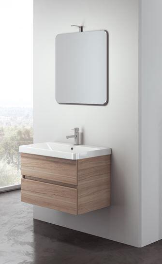 Mobilduenne Armoire de toilette Vénus suspendue cm. 60 complet avec miroir et lampe - Gris m