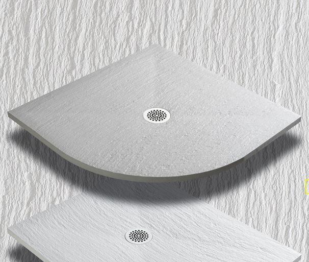 Thermodesign Receveur de douche en demi-cercle Mythos 90x90 ardoise - ciment