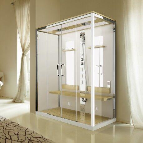 Novellini Nexis Dual A 170x90 avec hydromassage et sauna à vapeur à double emplacement - B